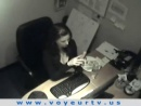 secretaria pillada camara oculta video
