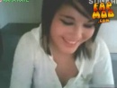Stickam teen flashes her young dark nipples