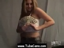 Chunky 19 yo Teen Webcam Striptease Drunk For Money